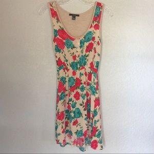 {Forever 21} Flower Skater Dress